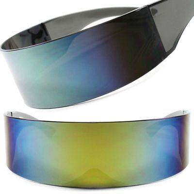 Mirrored Sci-Fi Robotic Star Trek Futuristic Party Rave Costume Sun Glasses F68