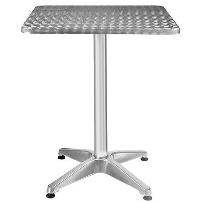 Aluminum Stainless Steel Square Table 23 12 Patio Pub Restaurant Adjustable