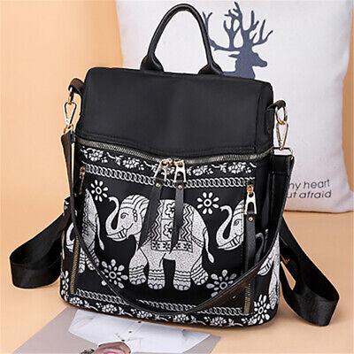 Women National Elephant Back To School Backpack Travel Handbag Shoulder (Back To School Bags)