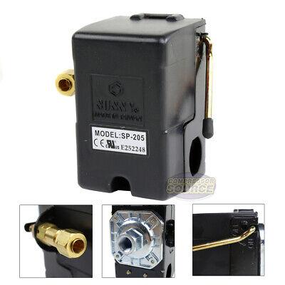 Heavy Duty 25 Amp Air Compressor Pressure Switch Control Valve 95-125 Psi