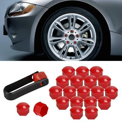 20pcs 321601173A Red Wheel Lug Bolt Nut Caps Covers For Volkswagen VW