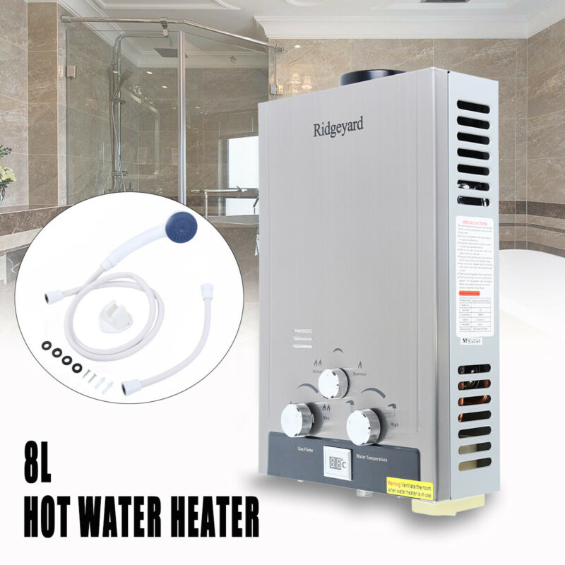 Tankless Hot Water Heater 8L Natural Gas Instant Boiler On D