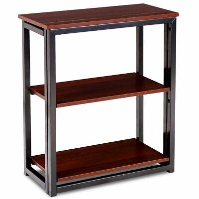 3 Tier Folding Ladder Bookcase Shelf Multifunctional Plant Flower Display Stand ()