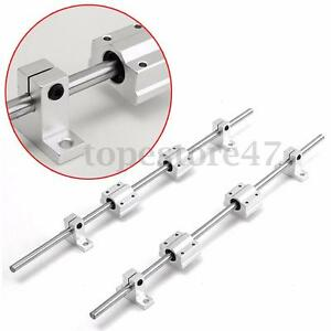2Pcs 8mm 300mm Linear Shaft Rod Rail Kit W/ Bearing Block For 3D Printer CNC