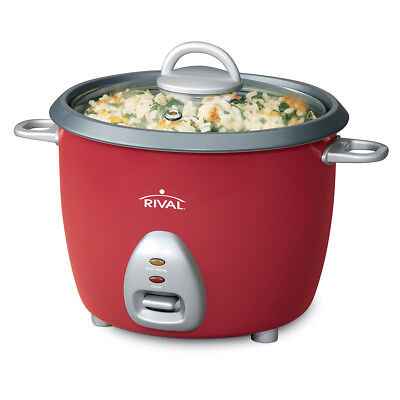Equal RC61 6-cup Rice Cooker w/Steamer, Red