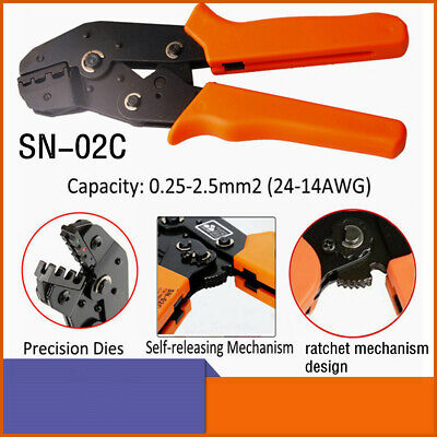 Sn-02c Ratchet Crimping Pliers For Crimp Dupont Terminals 24-14awg 0.25-2.5mm