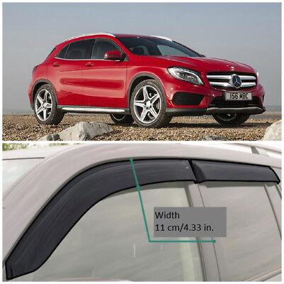 ME32814 Fenster Visiere Schutz Belüftung Breit Deflektoren für Mercedes Gla X156