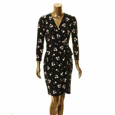 ANNE KLEIN NEW Women's Floral Print Classic Faux Wrap Dress TEDO