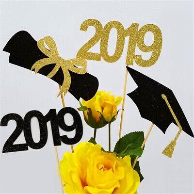 12pc/Set 2019 Graduation DIY Craft Food Sticks Cupcake Toppers Cake Party Decor](Graduation Cupcake Decorations)