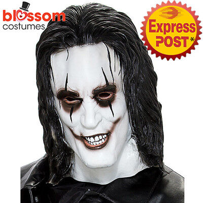 AC400 Don Post The Crow Costume Latex Face Mask Halloween Scary Horror Zombie](The Crow Halloween Costume)