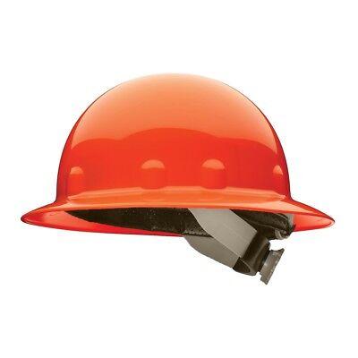 Fibre-metal Full Brim Hard Hat With Swingstrap Ratchet Suspension Orange