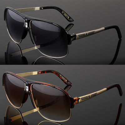 80s Large Mens Womens Retro Vintage Classic Fashion Designer Aviator Sunglasses](80s Womens Fashion)