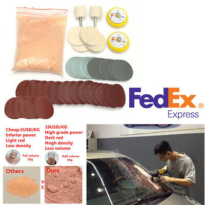 39PCS Car Deep Scratch Remover Windshield Glass Polish Repair Tool Kit US Stock Glass Polishing Kit