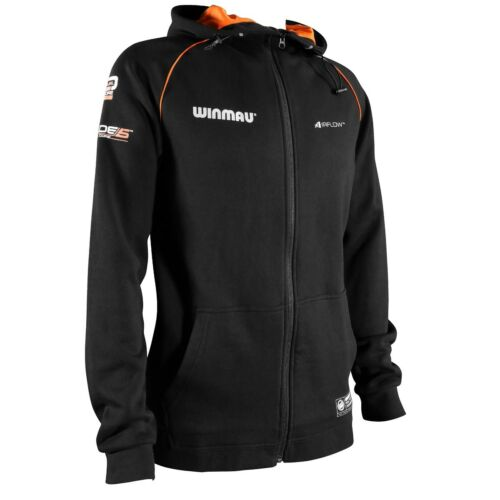 Winmau Pro-Line Hoodie - Ultra Comfort - Soft Warm Fabric - Black Darts Hoody