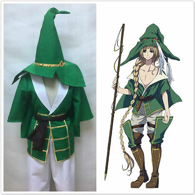 New Magi The Labyrinth of Magic Yunan Green Uniform Cosplay Costume Halloween ](Labyrinth Halloween Costume)