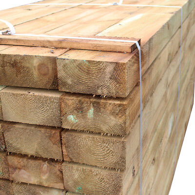 Timber Sleepers 2.4m 4 Pack Railway Sleeper 100x200mm Tanalised Treated Softwood