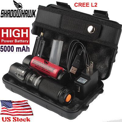 5000lm Genuine Shadowhawk X800 Flashlight CREE L2 LED Military Torch 26650 CUTE