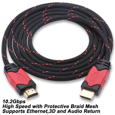 High Speed HDMI Cable V1.4 Connection 1080P 3/6/10/15/25/30 Feet HDTV PS3 -