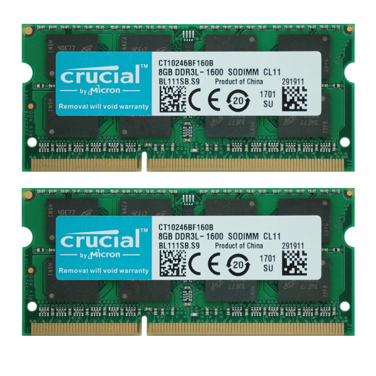NEW SAMSUNG 16GB 2X 8GB DDR3 1600MHz 204Pin PC3L-12800 1.35V SODIMM Memory RAM