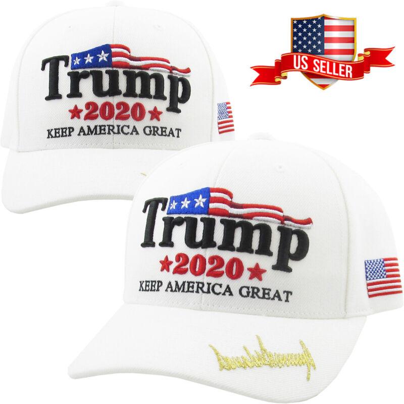 Trump 2020 White Hat Cap Keep America Great Make America Great Again KAG MAGA