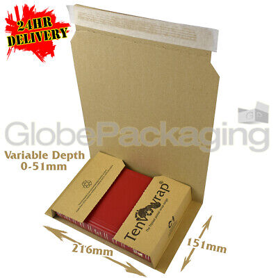 300 x C1 SMALL BOOK WRAP MAILER POSTAL BOXES 216x151x51mm - 100% RECYCLABLE