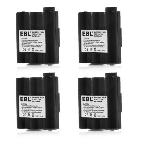 4x EBL 700mAh NI-MH 2-Way Radio Battery For Midland BATT5R BATT-5R LXT210 AVP-7