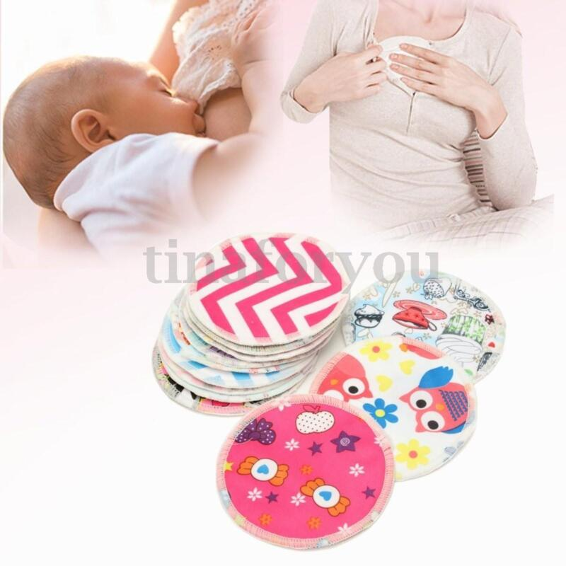 12 Bamboo Fiber Waterproof Leakproof Anti-spill  Nursing Breastfeeding Pads Mats