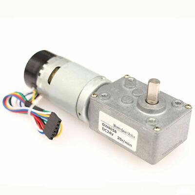 Turbo Worm Gear Motor Dc 12v 24v 5-1000 Rpm Low Speed Motor With Encoder Gw4058
