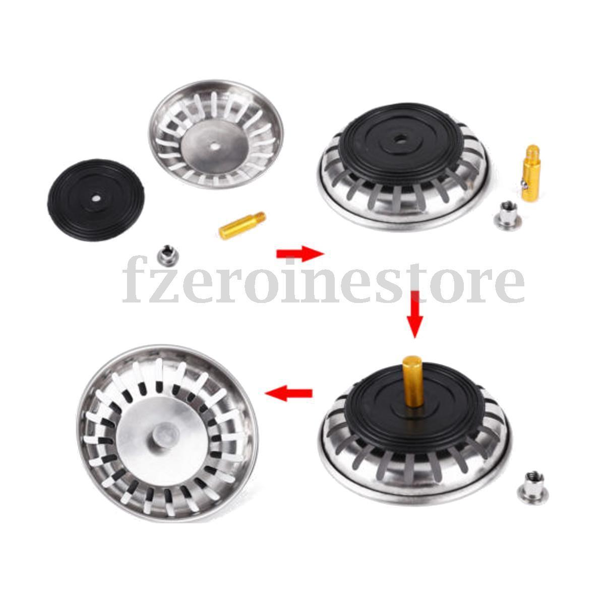 83MM REPLACEMENT STRAINER Waste Kitchen Sink Plugs Fits Most Modern ...