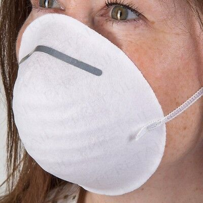 100x SHELL TYPE ELASTICATED DUST MASKS Comfortable Disposable PPE Clean DIY Mask
