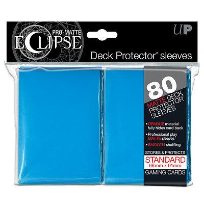 PRO-Matte Eclipse Light Blue Standard Deck Protector Card sleeves 80ct Ultra Pro