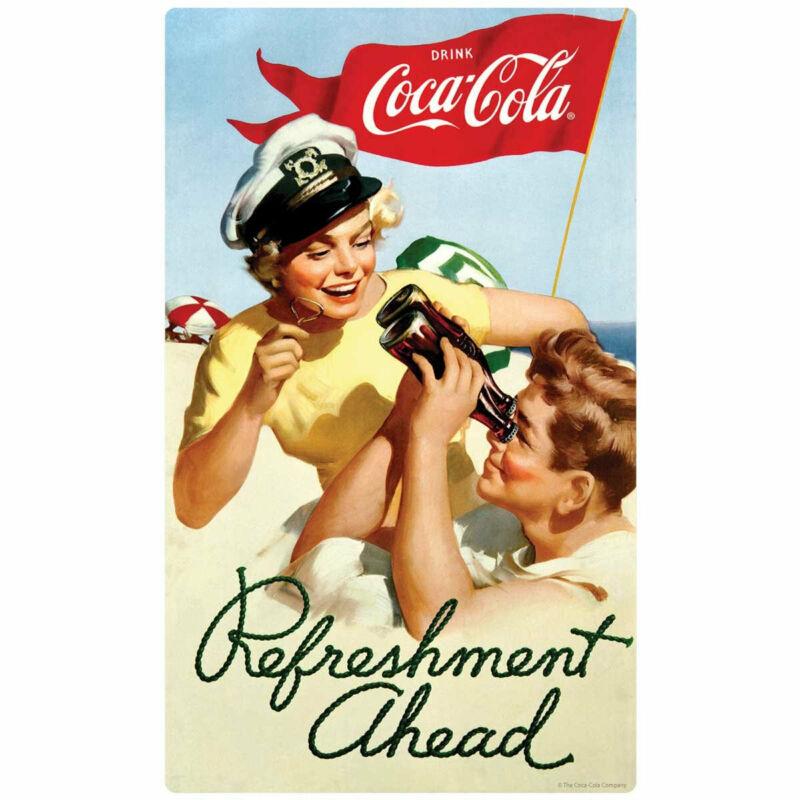 Coca-Cola Refreshment Ahead Decal Peel & Stick Wall Graphic