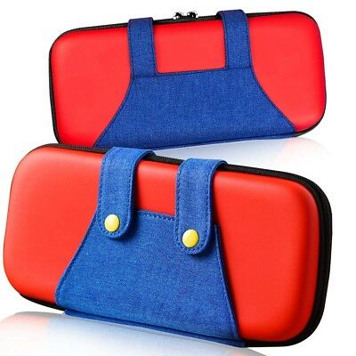 Mario Nintendo Switch Deluxe Carrying Case Portable Protective Pouch Travel Bag