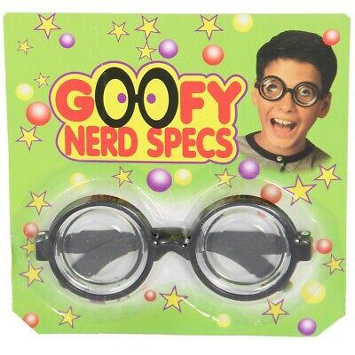 schwarze Idioten Brille die die Augen vergrößert Nerd Geek Horn Scherzartikel