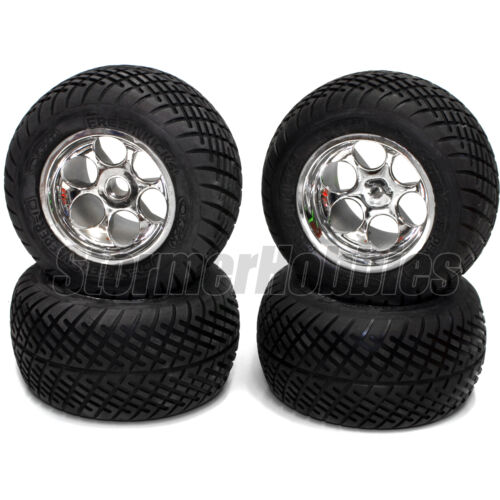 """Orion Street Sweeper Truck Tires Front 76454 & Rear 76455 Mounted for 2.2"""" Losi"""