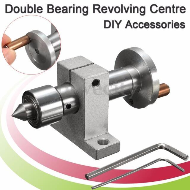 Double Bearing Live Center Revolving Centre For Mini Lathe Diy Wood