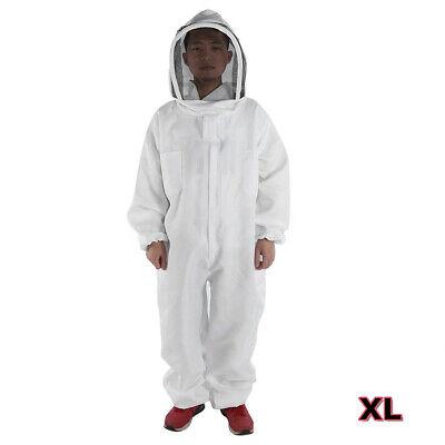 Xl Professional Cotton Full Body Beekeeping Bee Keeping Suit W Veil Hood New