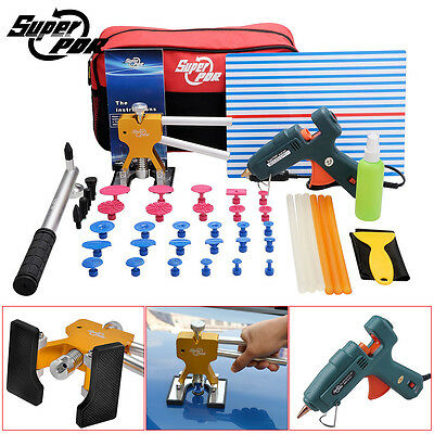 PDR Dent Lifter Puller Paintless Dent Repair Removal Tools Hammer Glue Gun Set