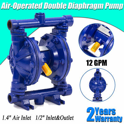 12gpm Air-operated Double Diaphragm Pump 12inch Inletoutlet For Industrail Use
