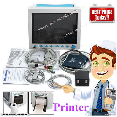 Ce Icuccu Vital Sign Patient Monitor 6 Parameter Patient Monitor With Printer