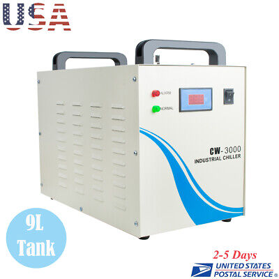Us 9l Industrial Water Chiller Cw-3000 For Cnclaser Engraver Engraving Machine