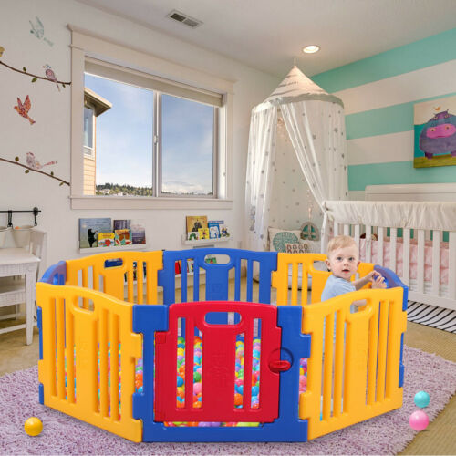 New Kids Panel Baby Playpen Safety Play Center Yard Home Indoor Outdoor Pen