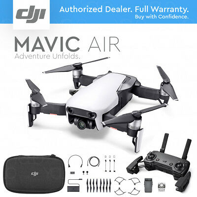 DJI MAVIC AIR Foldable & Portable Drone w/ 4K Stabilized Camera - ARCTIC WHITE