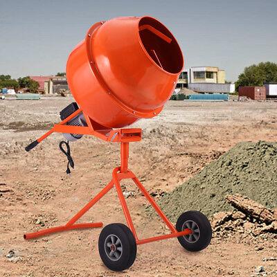 Portable Electric Cement Mixer Concrete Motar 5 Cubic Ft 1/2HP Drum Construction