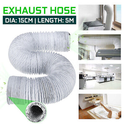 5M 150mm Exhaust Pipe Flexible Air Conditioner Spare Parts Vent Hose Outlet UK