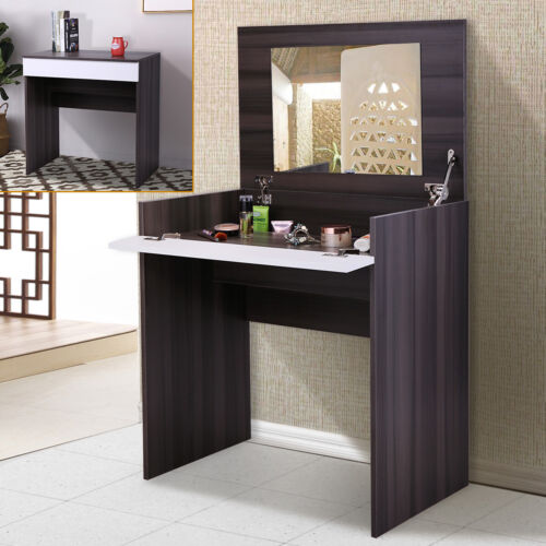 Makeup Vanity Table Dressing table w/Flip-Up Mirror and Jewelry Storage
