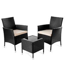 Set de muebles jardin o terraza modelo trento 3pc de ratan mesita+sillas -Mchaus