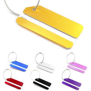 Porte cl tiquettes tag bagages luggage carte id nom for 1 porte etiquette de voyage