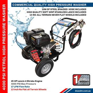4000 PSI 15HP Petrol Pressure Washer  - 17LP - Free 10m Hose Kewdale Belmont Area Preview