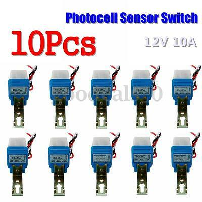 10x Auto On/Off Street Light Photocell Sensor Switch Control Photoswitch 12V 10A